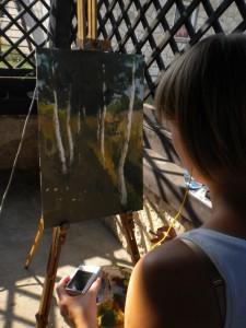 Ania podczas twórczej pracy...