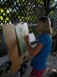 Emilce podoba się malarstwo sztalugowe